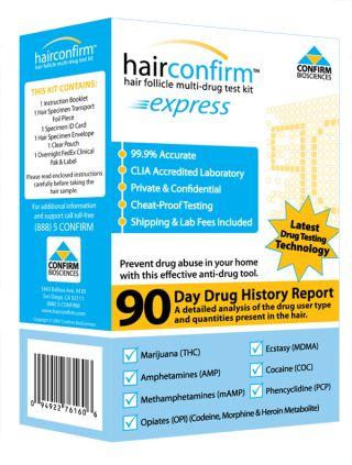 Hair Confirm At-Home Hair Drug Test Kit